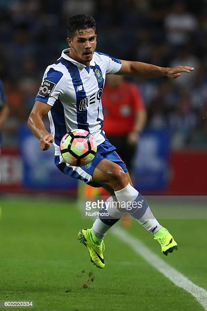 Porto's Portuguese forward Andre Silva in action during the Premier League 2016/17 match between FC Porto and Vitoria SC at Dragao Stadium in Porto...