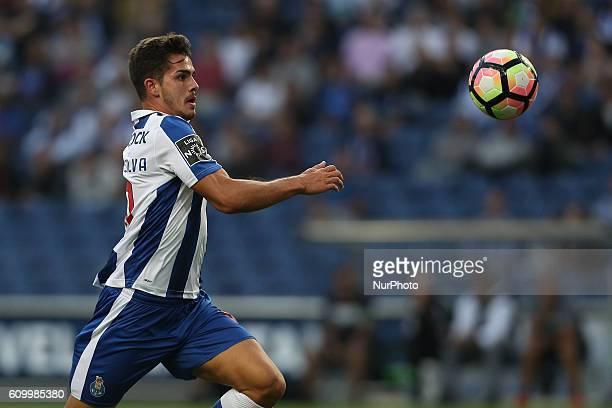 Porto's Portuguese forward Andre Silva in action during the Premier League 2016/17 match between FC Porto and Boavista FC at Dragao Stadium in Porto...