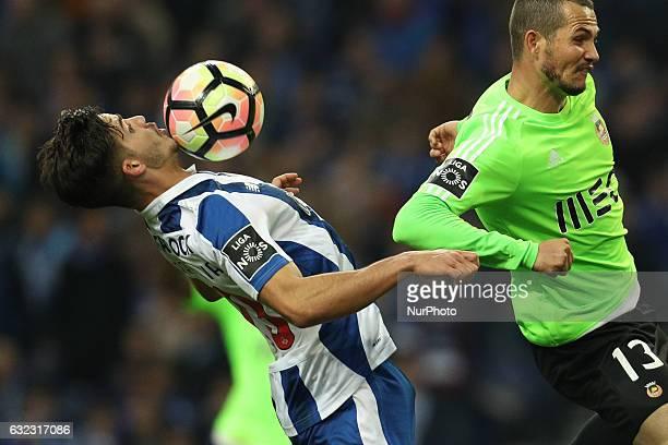 Porto's Portuguese forward Andre Silva in action during the Premier League 2016/17 match between FC Porto and Rio Ave at Dragao Stadium in Porto on...