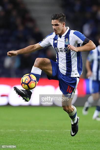 Porto's Portuguese forward Andre Silva the Premier League 2016/17 match between FC Porto and SC Braga at Dragao Stadium in Porto on December 3 2016