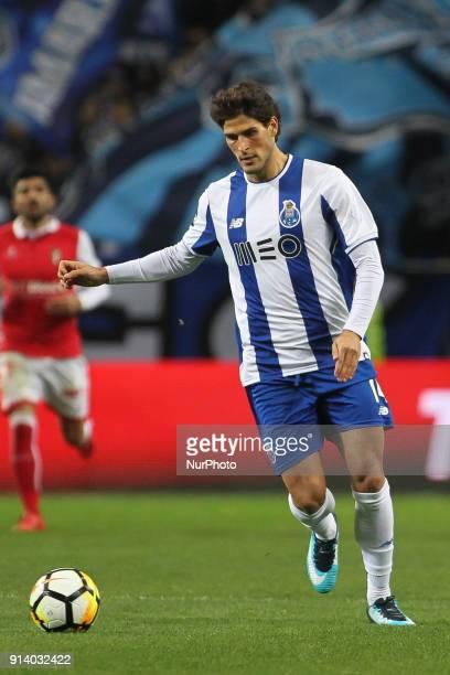 Porto's Portuguese forward Goncalo Paciencia during the Portuguese League 2017/18 match between FC Porto and SC Braga at Dragao Stadium in Porto on...