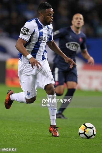 Porto's Portuguese forward Hernani during the Premier League 2017/18 match between FC Porto and Belenenses at Dragao Stadium in Porto on November 4...