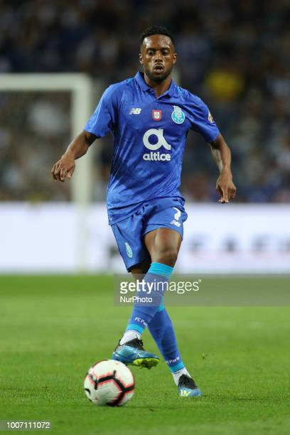 Porto's Portuguese forward Hernani in action during the Official Presentation of the FC Porto Team 2018/19 match between FC Porto and Newcastle at...