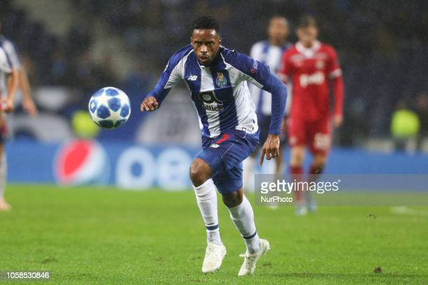 Porto's Portuguese forward Hernani in action during the UEFA Champions League match between FC Porto and FC Lokomotiv Moscow at Dragao Stadium in...