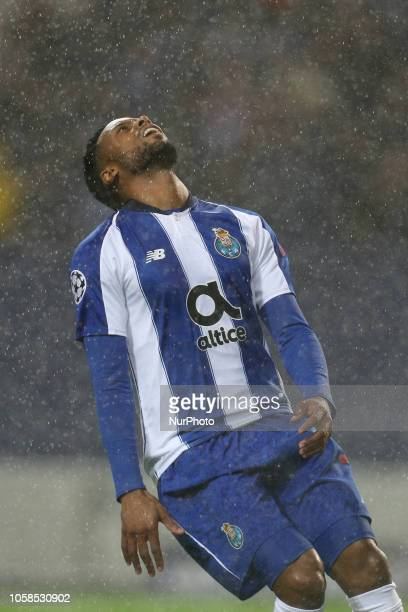 Porto's Portuguese forward Hernani reacts during the UEFA Champions League match between FC Porto and FC Lokomotiv Moscow at Dragao Stadium in Porto...