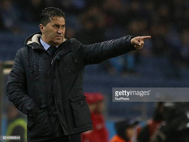 Porto's Portuguese head coach Jos�� Peseiro during the Premier League 2015/16 match between FC Porto and FC Arouca at Drag��o Stadium in Porto on...