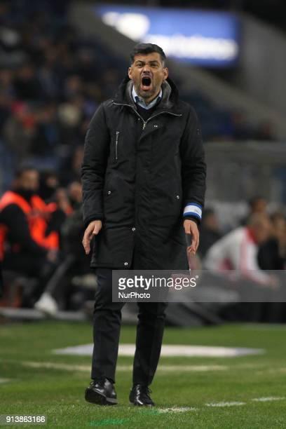 Porto's Portuguese head coach Sergio Conceicao during the Portuguese League 2017/18 match between FC Porto and SC Braga at Dragao Stadium in Porto on...