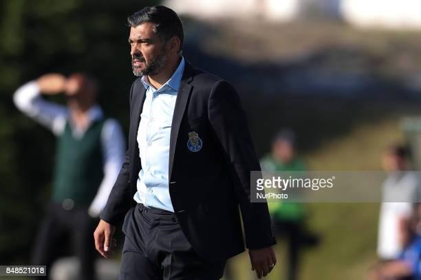 Porto's Portuguese head coach Sergio Conceicao during the Premier League 2017/18 match between Rio Ave FC and FC Porto at Rio Ave Stadium in Vila do...