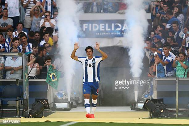 Porto's Portuguese midfielder Joao Carlos Teixeira during the Official Presentation of the FC Porto Team 2016/17 match between FC Porto and...