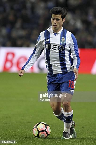 Porto's Portuguese midfielder Joao Carlos Teixeira during the Premier League 2016/17 match between FC Porto and Rio Ave at Dragao Stadium in Porto on...