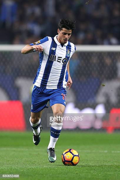 Porto's Portuguese midfielder Joao Carlos Teixeira in action during the League Cup 2016/17 match between FC Porto and CD Feirense at Dragao Stadium...