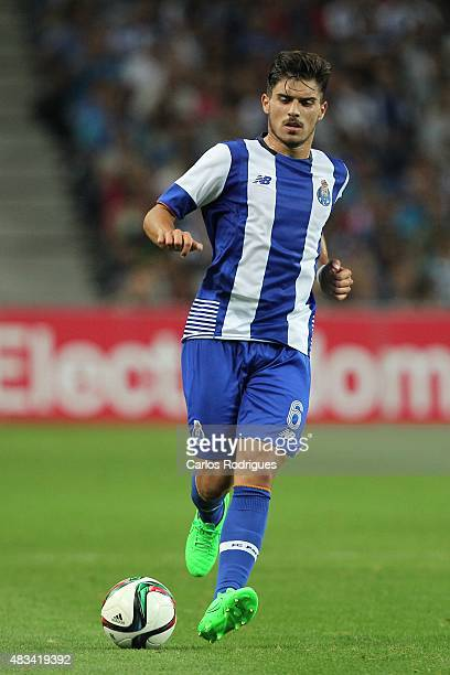 Porto's Portuguese midfielder Ruben Neves during the preseason friendly between FC Porto and Napoli at Estadio do Dragao on August 8 2015 in Porto...