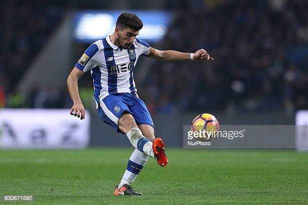 Porto's Portuguese midfielder Ruben Neves in action during the League Cup 2016/17 match between FC Porto and CD Feirense at Dragao Stadium in Porto...