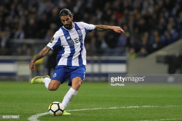 Porto's Portuguese midfielder Sergio Oliveira during the Premier League 2017/18 match between FC Porto v Rio Ave FC at Dragao Stadium in Porto on...