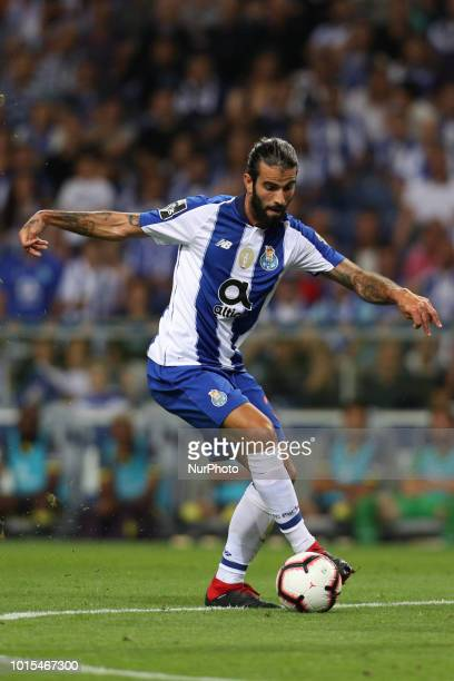 Porto's Portuguese midfielder Sergio Oliveira in action during the Premier League 2018/19 match between FC Porto and GD Chaves at Dragao Stadium in...