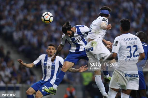 Porto's Portuguese midfielder Sergio Oliveira in action during the Premier League 2017/18 match between FC Porto and CD Feirense at Dragao Stadium in...