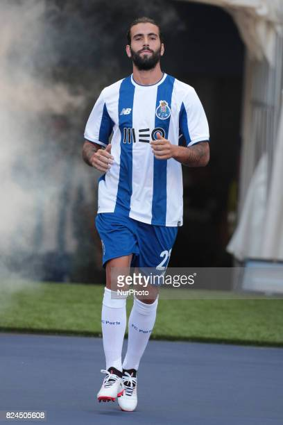 Porto's Portuguese midfielder Sérgio Oliveira during the preseason friendly between FC Porto and Deportivo da Corunha at Dragao Stadium on July 30...