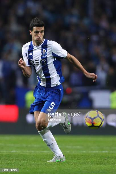 Porto's Spanish defender Ivan Marcano in action during the Premier League 2016/17 match between FC Porto and SL Benfica at Dragao Stadium in Porto on...
