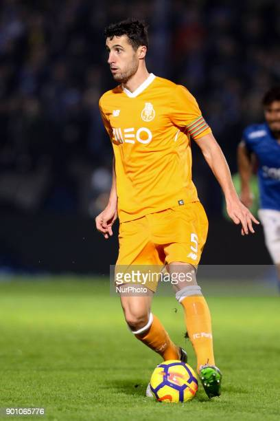 Porto's Spanish defender Ivan Marcano in action during the Premier League 2016/17 match between CD Feirense and FC Porto at Marcolino de Castro...
