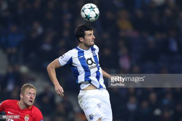 Porto's Spanish defender Ivan Marcano in action during the UEFA Champions League Group G match between FC Porto and AS Monaco FC at Dragao Stadium on...