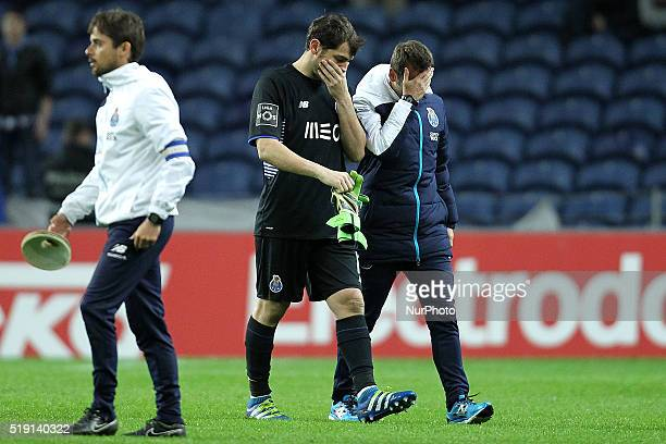 Porto's Spanish goalkeeper Iker Casillas reacts after end of game during the Premier League 2015/16 match between FC Porto and CD Tondela at Dragão...
