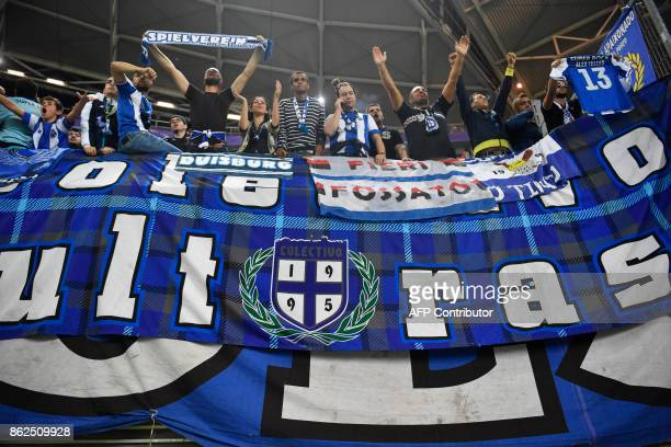 Porto's Ultras celebrate before the UEFA Champions League group G football match RB Leipzig v FC Porto in Leipzig eastern Germany on October 17 2017...