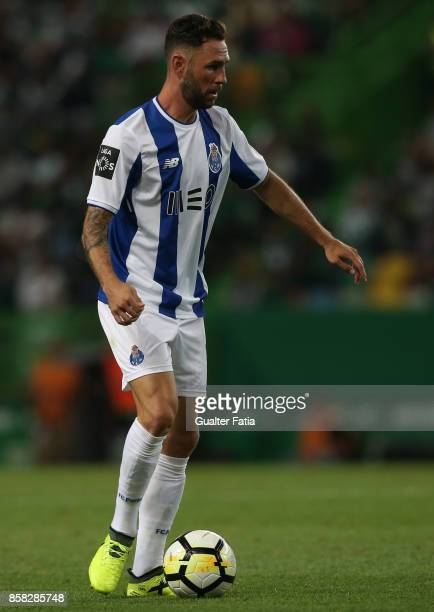 Porto'u2019s defender Miguel Layun from Mexico in action during the Primeira Liga match between Sporting CP and FC Porto at Estadio Jose Alvalade on...