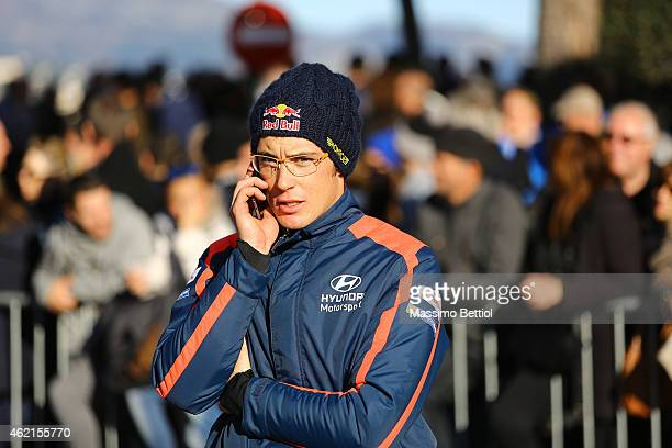 Portrai of Thierry Neuville of Belgium during Day Four of the WRC Montecarlo on January 25 2015 in MonteCarlo Monaco