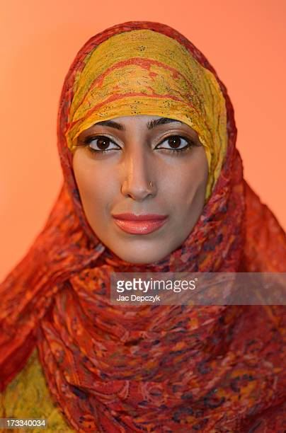 portrain of young woman in hijab dress code - depczyk stock pictures, royalty-free photos & images