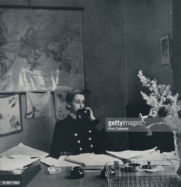 'Portrait' 1941 A woman of the Women's Royal Navy Service takes a telephone call From Air of Glory by Cecil Beaton [His Majesty's Stationery Office...