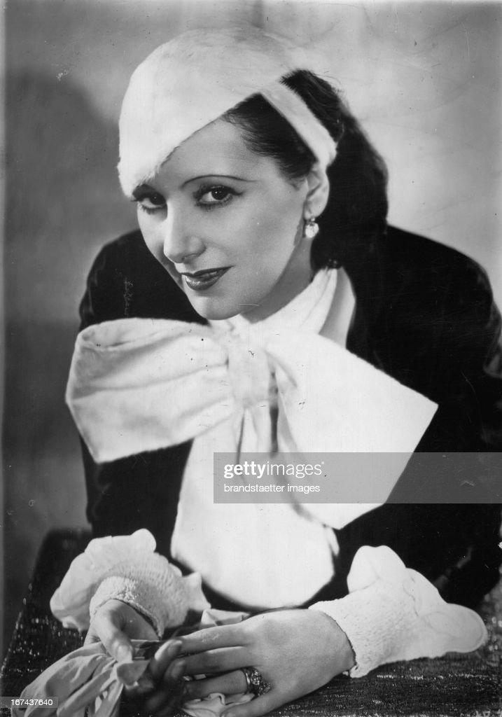 Portrait actress Lil Dagover. 1930. Photograph. (Photo by Imagno/Getty Images) Portrait Schauspielerin Lil Dagover. 1930. Photographie.