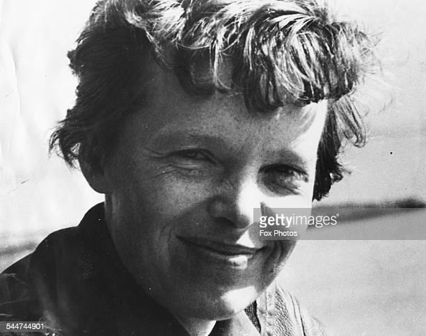 Portrait American pilot Amelia Earhart, circa 1935.