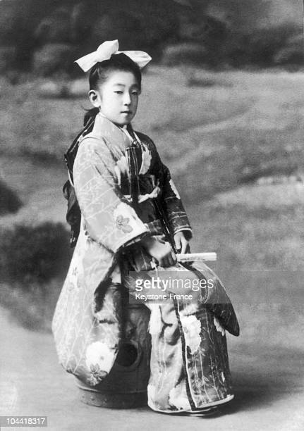 Portrait around 1915 of Princess NAGAKO daughter of Prince KUNI and future wife of Prince HIROHITO future Emperor who reigned over Japan from 1928 to...