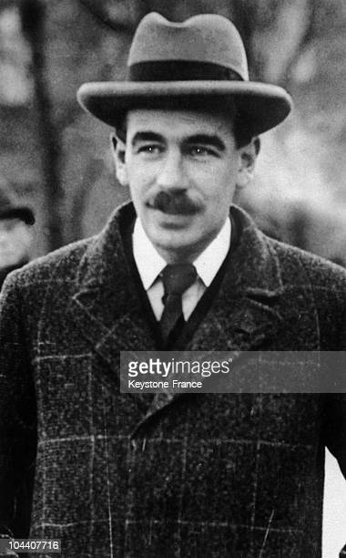Portrait around 1925-1930 of the English economist John Maynard KEYNES who originated the New Deal, President Roosevelt's economic program to resolve...