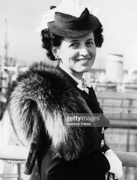 Portrait around 1938 or 1939 of Rose Fitzgerald KENNEDY, wife of the American Ambassador to Great Britain, Joseph Patrick KENNEDY and mother of John...