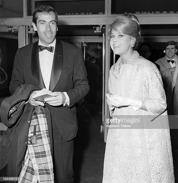 Portrait around 1964 of the French director Roger VADIM and his second wife the Swedish actress Annette STROYBERG