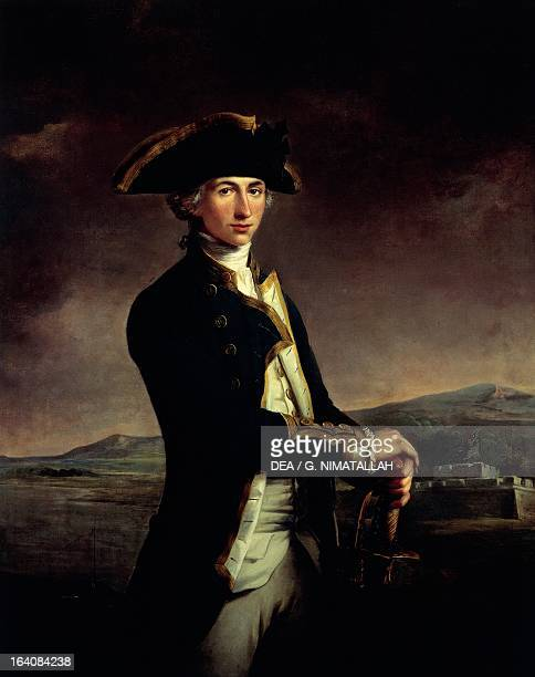 Portrait as a youth of Horatio Nelson British admiral Painting by Jean Francis Rigaud oil on canvas LondonGreenwich National Maritime Museum