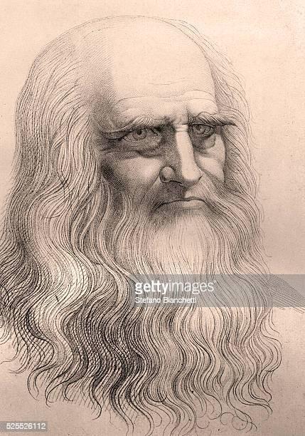 Portrait based on a selfportrait by Leonardo Da Vinci