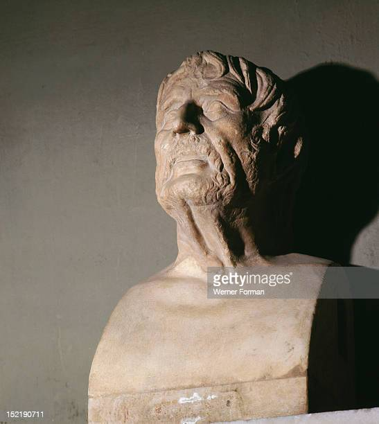 Portrait bust It is probably a representation of the blind Greek poet Homer Italy Roman