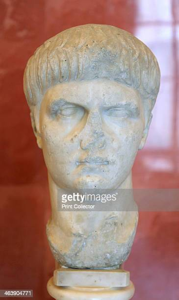 Portrait bust of the Roman Emperor Nero as a youth mid 1st century Nero became Emperor of Rome in 54 Tyrannical debauched and extravagant he...