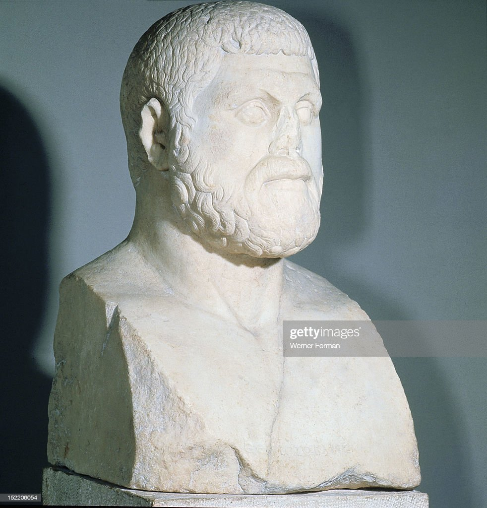 Portrait bust of Themistocles, Athenian statesman and naval commander (c : News Photo