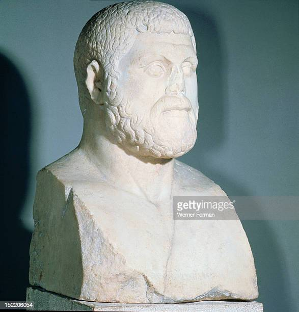 Portrait bust of Themistocles Athenian statesman and naval commander His proposal that the Athenians should fight the Persians at sea rather than on...