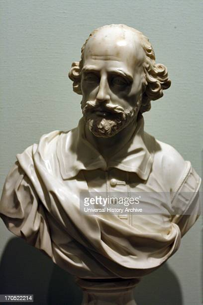 Portrait bust of William Shakespeare 15641616 by John Rysbrack 169417770 Made from marble 1760
