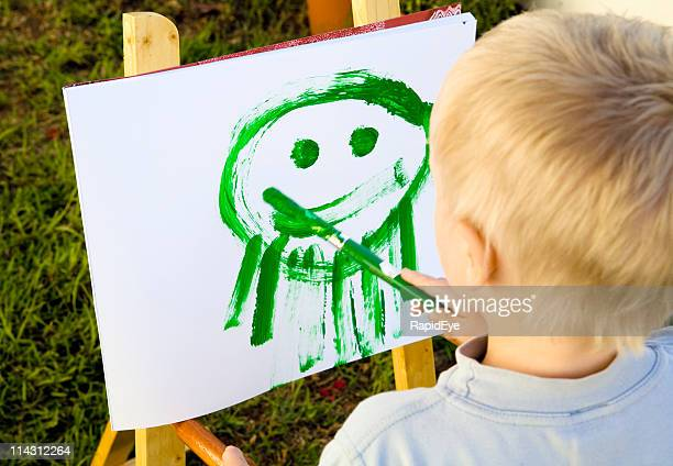 Portrait by 4-year-old