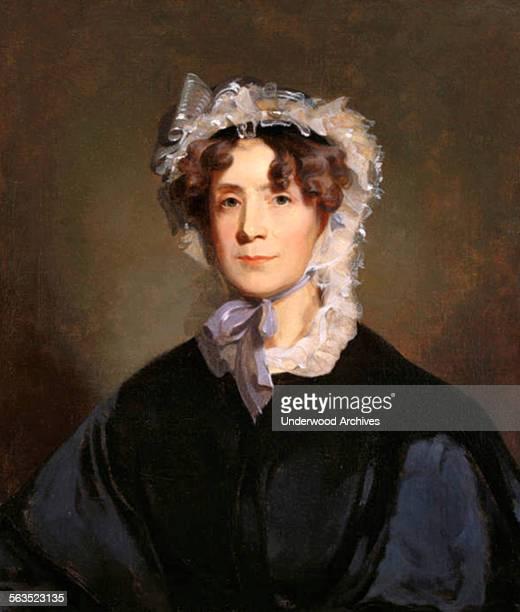 A portrait by painter Thomas Sully of Martha Jefferson Randolph the daughter of President Thomas Jefferson Washington DC circa 1805