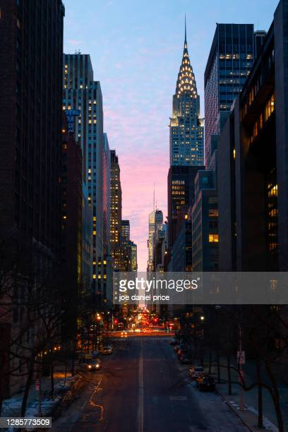 portrait, chrysler building, east 42nd street, midtown, manhattan, new york city, new york, america - new york city stock pictures, royalty-free photos & images