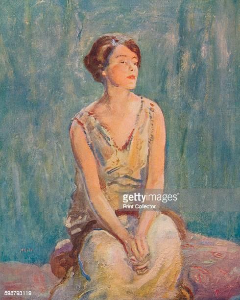 A Portrait circa 1922 From Modern Art by Charles Marriott Tis Tis [Colour Ltd London 1909] Artist Ambrose McEvoy