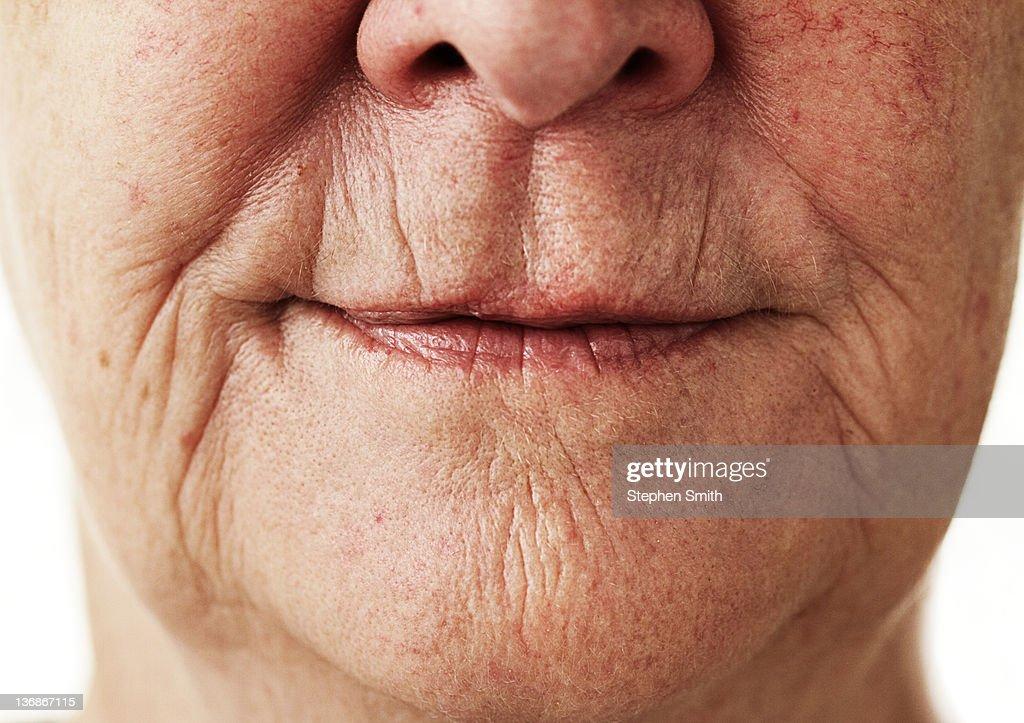 portrait close up older  woman : Stock Photo