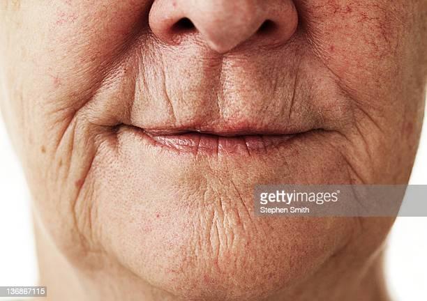 portrait close up older  woman