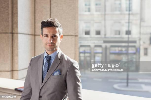 Portrait confident corporate businessman